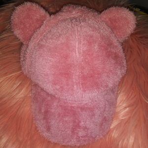 Rose Gold Plush Bear Cap